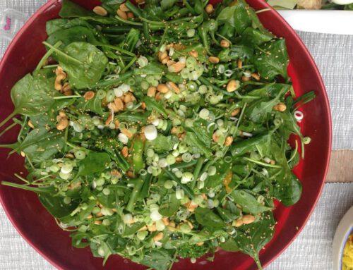 Aziatische getinte salade