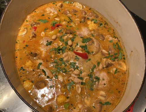 Massaman kip en bloemkool curry